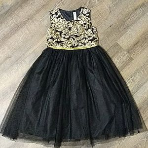 Black Cherokee dress with a cute design top